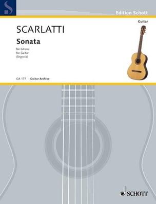 Sonate e-moll K 11/L 352- Gitarre SCARLATTI Partition laflutedepan