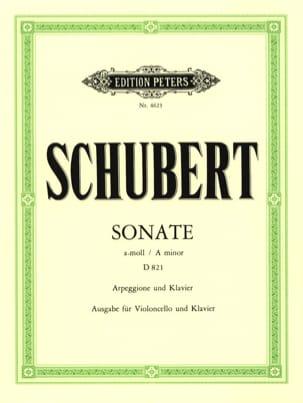 Sonate Arpeggione D 821 en la mineur SCHUBERT Partition laflutedepan