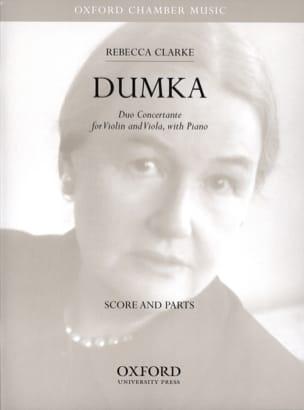 Dumka -Score + Parts Rebecca Clarke Partition Trios - laflutedepan