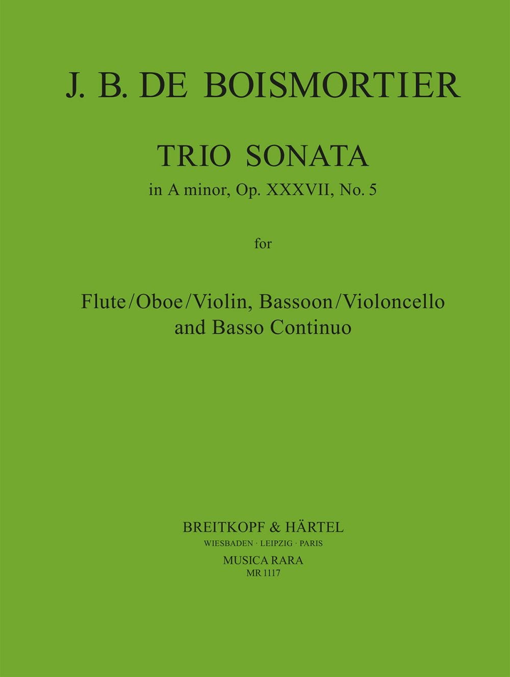 Trio Sonata A minor op. 37 n° 5 -Flute bassoon Bc - laflutedepan.com