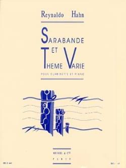 Sarabande et Thème Varié Reynaldo Hahn Partition laflutedepan