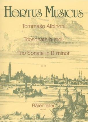 Triosonate h-moll op. 1 n° 8 -2 Violinen und Bc ALBINONI laflutedepan