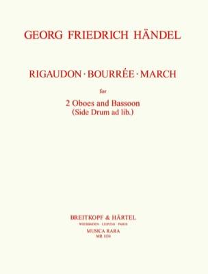 Rigaudon - Bourrée - Marche -2 Oboes Bassoon HAENDEL laflutedepan