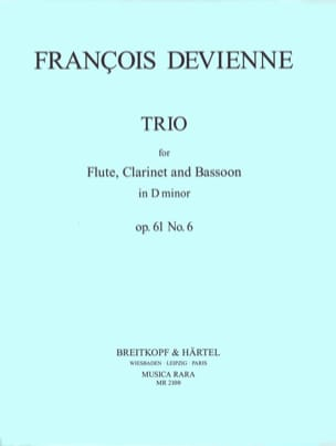 Trio in D minor, op. 61 n° 6 - Parts DEVIENNE Partition laflutedepan