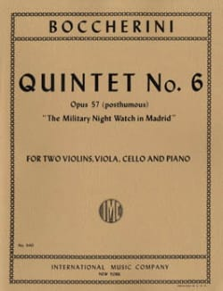 Quintet n° 6 op. 57 posth. - Parts BOCCHERINI Partition laflutedepan