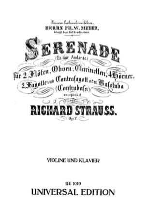 Serenade Es-Dur Andante op. 7 - Violine Richard Strauss laflutedepan