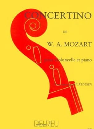 Concertino - MOZART - Partition - Violoncelle - laflutedepan.com