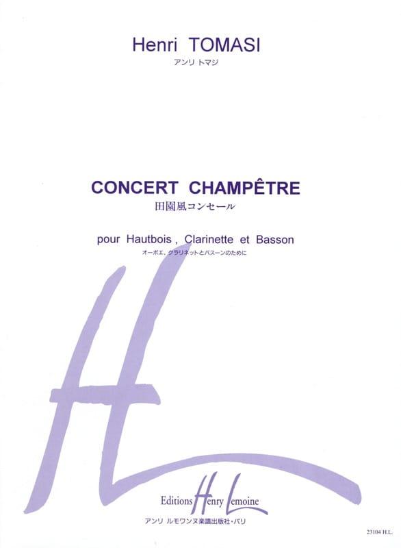 Concert champêtre -Conducteur + parties - TOMASI - laflutedepan.com