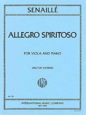 Allegro Spirituoso - Alto - Jean-Baptiste Senaillé - laflutedepan.com