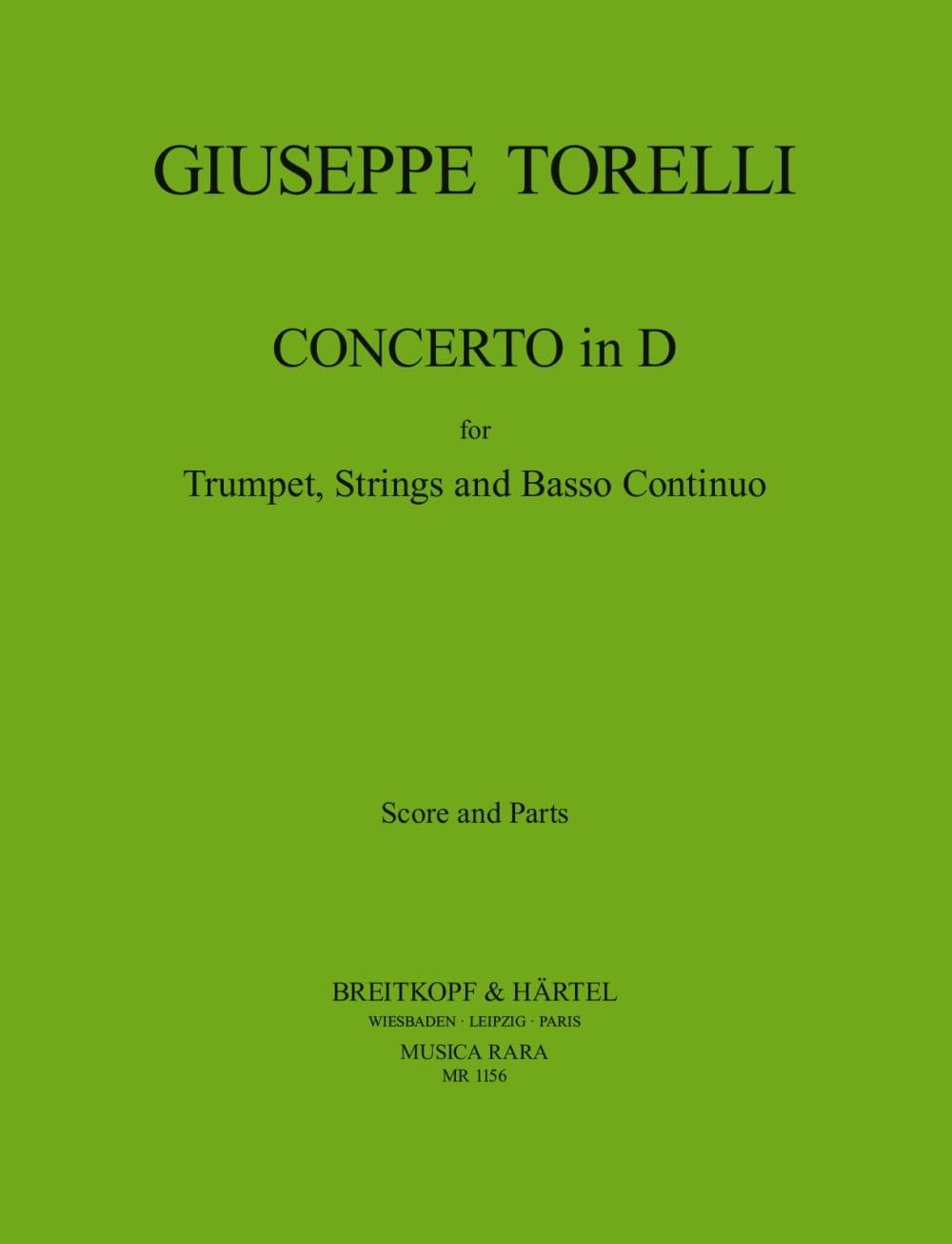 Concerto In D - Partitur + Stimmen - TORELLI - laflutedepan.com