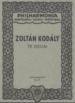 Te Deum - Partitur KODALY Partition Petit format - laflutedepan