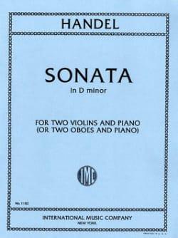 Sonata D minor -2 Violins piano HAENDEL Partition laflutedepan