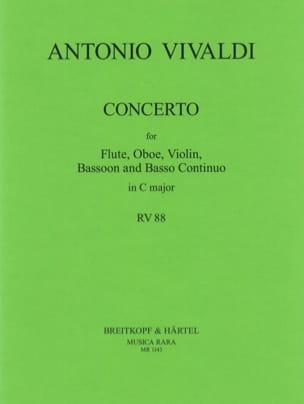 Concerto in C major RV 88 P. 82 - Flute oboe violin bassoon BC laflutedepan