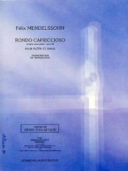 Rondo Capriccioso Op14 MENDELSSOHN Partition laflutedepan