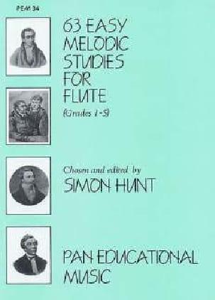 Simon Hunt - 63 Easy melodic studies for flute - Partition - di-arezzo.com