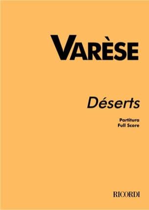 Déserts - Partitur Edgard Varèse Partition Grand format - laflutedepan