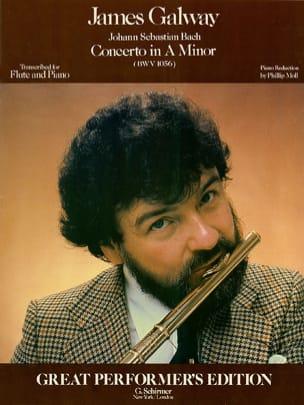 Concerto A minor BWV 1056 - Flute piano BACH Partition laflutedepan