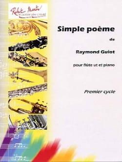 Simple Poème Raymond Guiot Partition Flûte traversière - laflutedepan