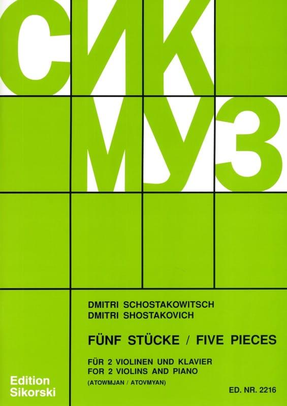 5 Pièces - 2 Violons et Piano - CHOSTAKOVITCH - laflutedepan.com