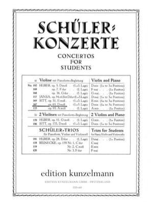 Concertino op. 65 D-moll Hans Sitt Partition Violon - laflutedepan