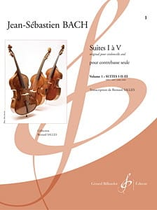 BACH - Suites 1 to 3 - Double bass - Partition - di-arezzo.co.uk
