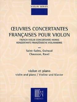 Oeuvres concertantes françaises pour le violon laflutedepan