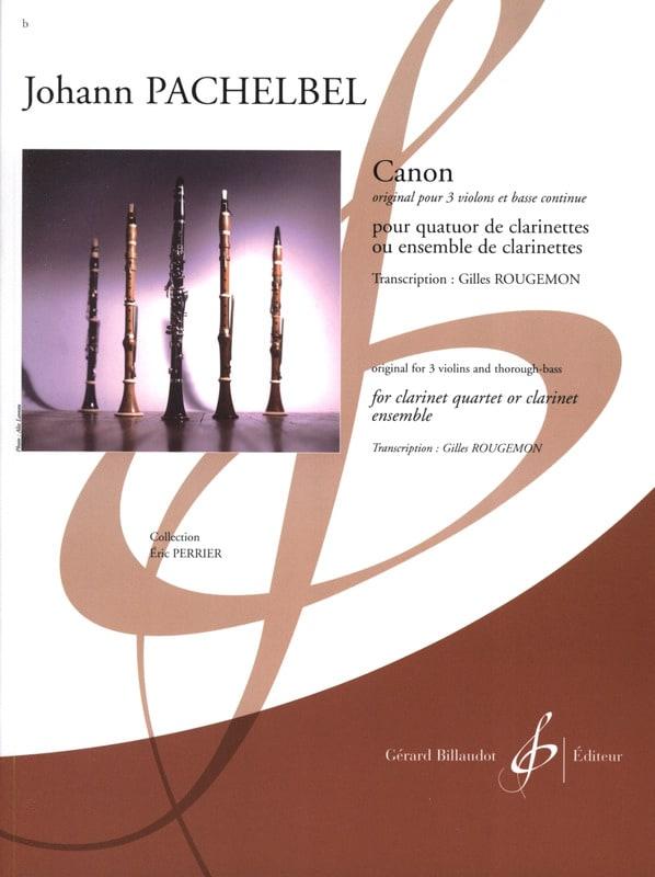 Canon - PACHELBEL - Partition - Clarinette - laflutedepan.com