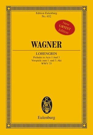 Lohengrin Wwv 75, Préludes Actes 1/3 - WAGNER - laflutedepan.com