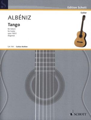 Tango D-Dur op. 165 n° 2 ALBENIZ Partition Guitare - laflutedepan