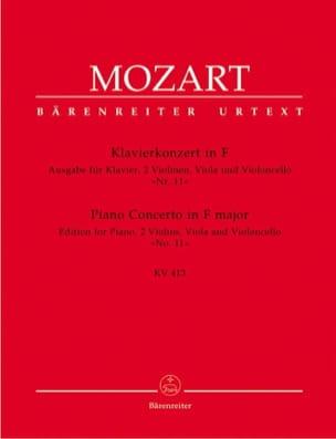 Klavierkonzert in F - K.413 MOZART Partition Quintettes - laflutedepan