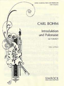 Introduktion und Polonaise Carl Bohm Partition Violon - laflutedepan