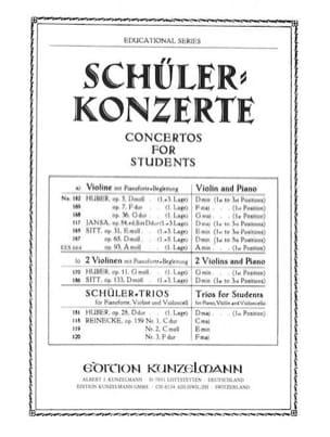 Concertino op. 93 A-moll Hans Sitt Partition Violon - laflutedepan