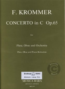 Concerto in C major op. 65 -Flute oboe piano KROMMER laflutedepan