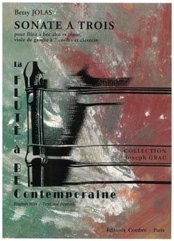 Sonate à trois - Betsy Jolas - Partition - laflutedepan.com
