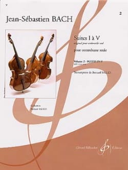 BACH - Suites 4 and 5 Transcribed for Double Bass Vol 2 - Partition - di-arezzo.co.uk