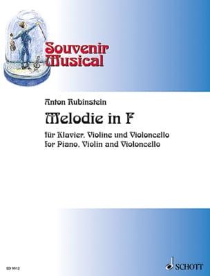 Melodie in F -Klavier Violine Violoncello laflutedepan