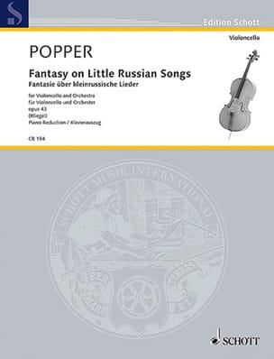 David Popper - Fantasy On Little Russian Songs Op.43 - Partition - di-arezzo.com