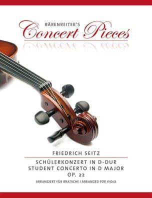 Concerto en ré majeur, op. 22 Friedrich Seitz Partition laflutedepan