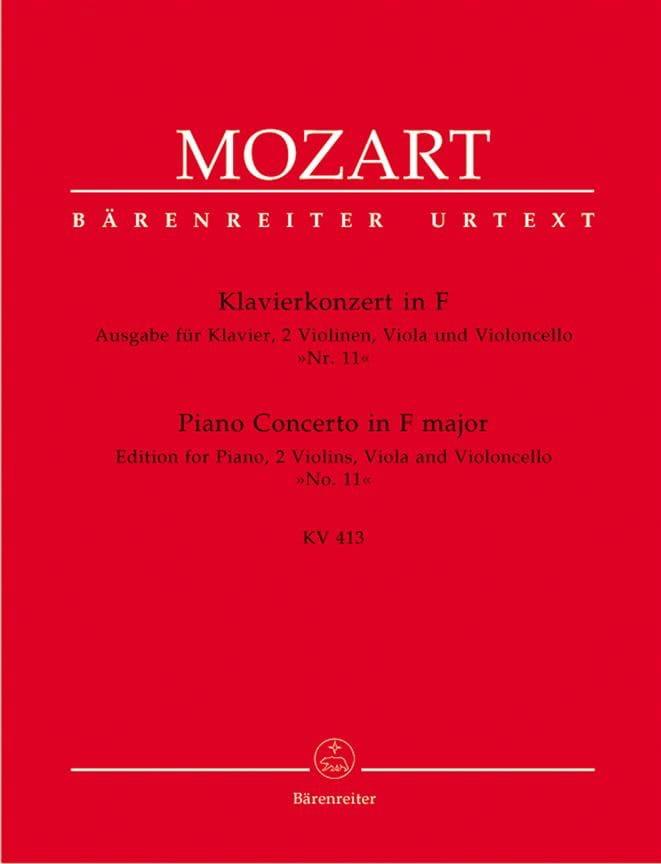 Klavierkonzert in F - K.413 - MOZART - Partition - laflutedepan.com