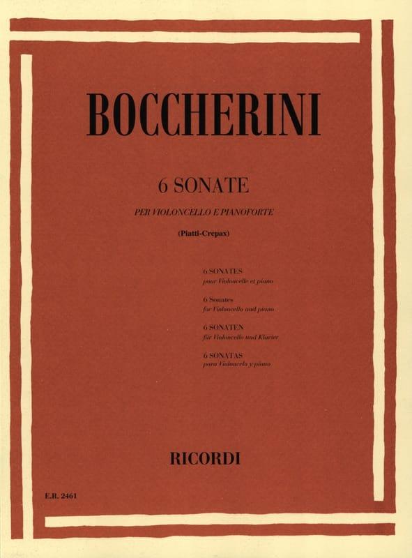 6 Sonates - BOCCHERINI - Partition - Violoncelle - laflutedepan.com