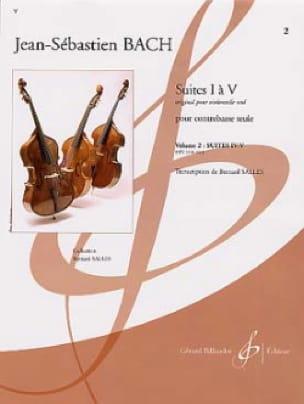 Suites 4 et 5 Transcrites Pour Contrebasse Vol 2 - laflutedepan.com