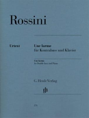 Une Larme - ROSSINI - Partition - Contrebasse - laflutedepan.com