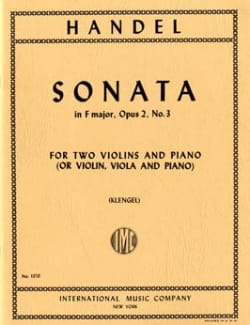 Sonata F major op. 2 n° 3 - Parts HAENDEL Partition laflutedepan