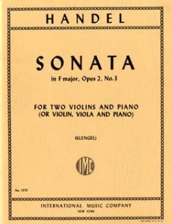 Sonata F major op. 2 n° 3 -Parts HAENDEL Partition laflutedepan