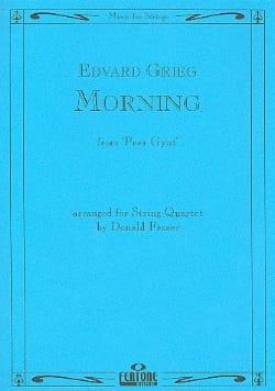 Morning - String Quartet - GRIEG - Partition - laflutedepan.com