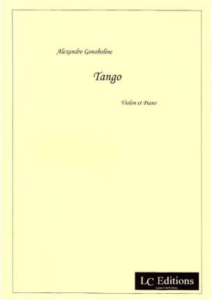 Tango Alexandre Gonoboline Partition Violon - laflutedepan