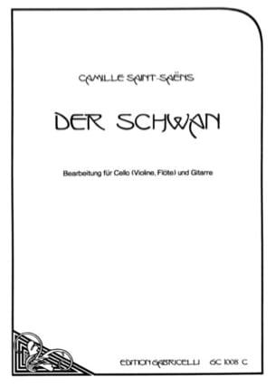 Der Schwan - Cello o. Violine, Flöte Gitarre SAINT-SAËNS laflutedepan