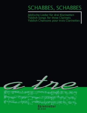 Schabbes, Schabbes Partition Clarinette - laflutedepan