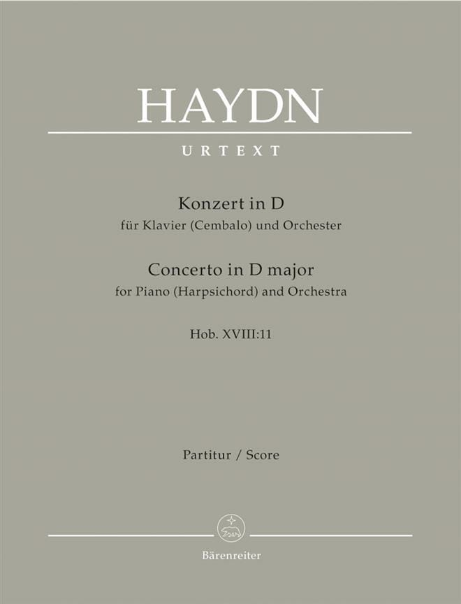 Klavier-Konzert in D - Hob. 18:11 - Partitur - laflutedepan.com