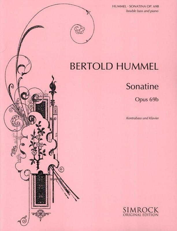 Sonatine op. 69b - Kontrabass Klavier - HUMMEL - laflutedepan.com
